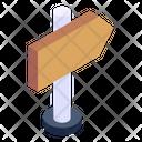 Signboard Roadboard Fingerboard Icon