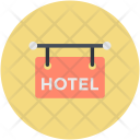 Signboard Hotel Hanging Icon