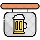 Signboard Beer Alcohol Icon