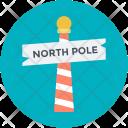 Signboard North Pole Icon