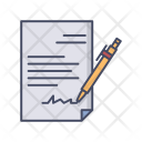 Signed Document Paper Icon