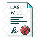Signed Last Will Icon