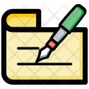 Contract Writing Signature Icon