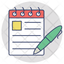 Signing Notes Notepad Icon