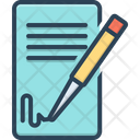 Signing Contact Icon