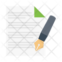 Contract Sign File Icon