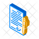 Contract Signing Isometric Icon