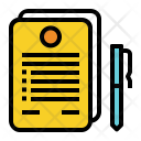 Signing document Icon
