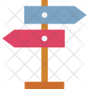 Signpost Direction Post Guidepost Icon