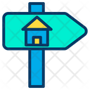 Home Signpost House Signpost Sign Board Icon