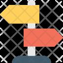 Signpost Street Arrows Icon