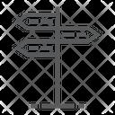 Signpost Post Arrow Icon