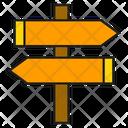 Signpost Signage Direction Icon