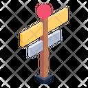 Discretion Board Sign Board Signpost Icon