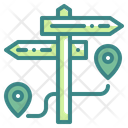 Signpost Route Guide Icon