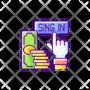 Sign Bonus Up Icon