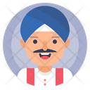 Indian Man Sikh Icon