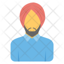 Sikh Man Turban Icon