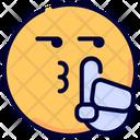 Silence Emot Emoji Icon