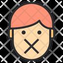 Silence Emotion Face Icon