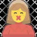Female Silent Protest Icon