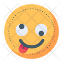 Silly Crazy Emoji Icon