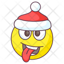 Silly Santa Emoji Silly Expression Emotag Icon