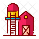 Silo Barn Farm Icon