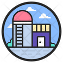 Silo Warehouse Storehouse Icon
