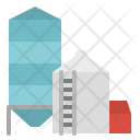 Silo Buildings Barn Icon