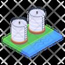 Granary Silos Storage Silos Icon