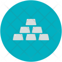 Silver Biscuit Money Icon