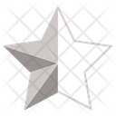 Silver Half Star Star Award Icon