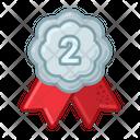 Silver Medal Prize Icon
