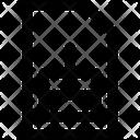 Sim Bold Icon