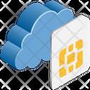 Cloud Computing Sim Icon