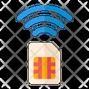 Sim Card Internet Sim Smart Sim Icon