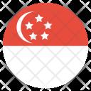 Singapore Flag Circle Icon
