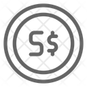 Singapore Dollar Currency Icon