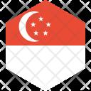 Singapore Flag World Icon