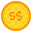 Singapore Dollar Coin Currency Icon