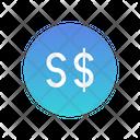 Singapore Dollar Icon