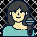 Singer Mic Woman Singer Icon