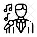 Man Suit Microphone Icon
