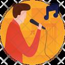 Male Singer Singing Artist Icon