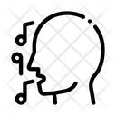 Man Silhouette Singing Icon