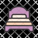 Bed Single Furniture Icon
