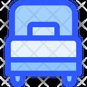 Hotel Service Single Bed Icon