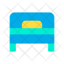 Bed Pillow Wood Icon
