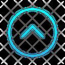 Single Chevron Top Zigzag Top Right Arrow Arrows Icon
